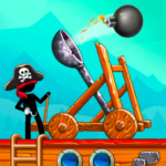 The Catapult Castle Clash with Awesome Pirates MOD Unlimited Money 1.3.0