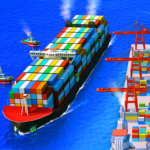 Sea Port Ship Transport Tycoon Business Game MOD Unlimited Money 1.0.159